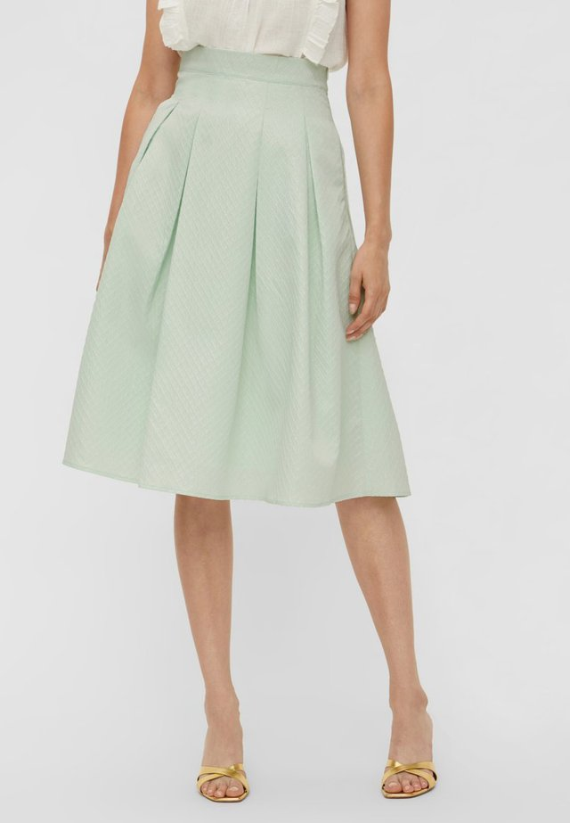 A-line skirt - misty jade