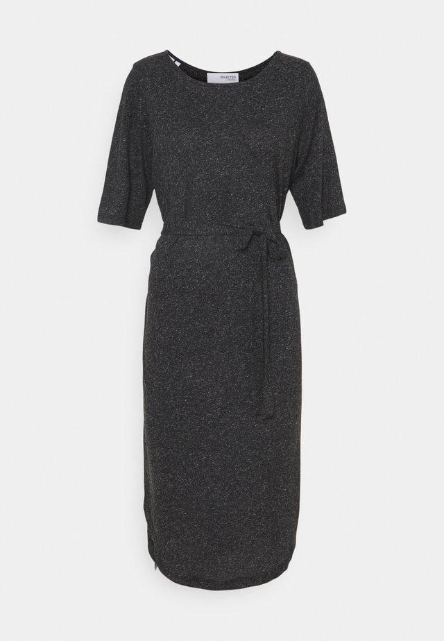 SLFIVY BEACH DRESS SOLID - Žerzejové šaty - black