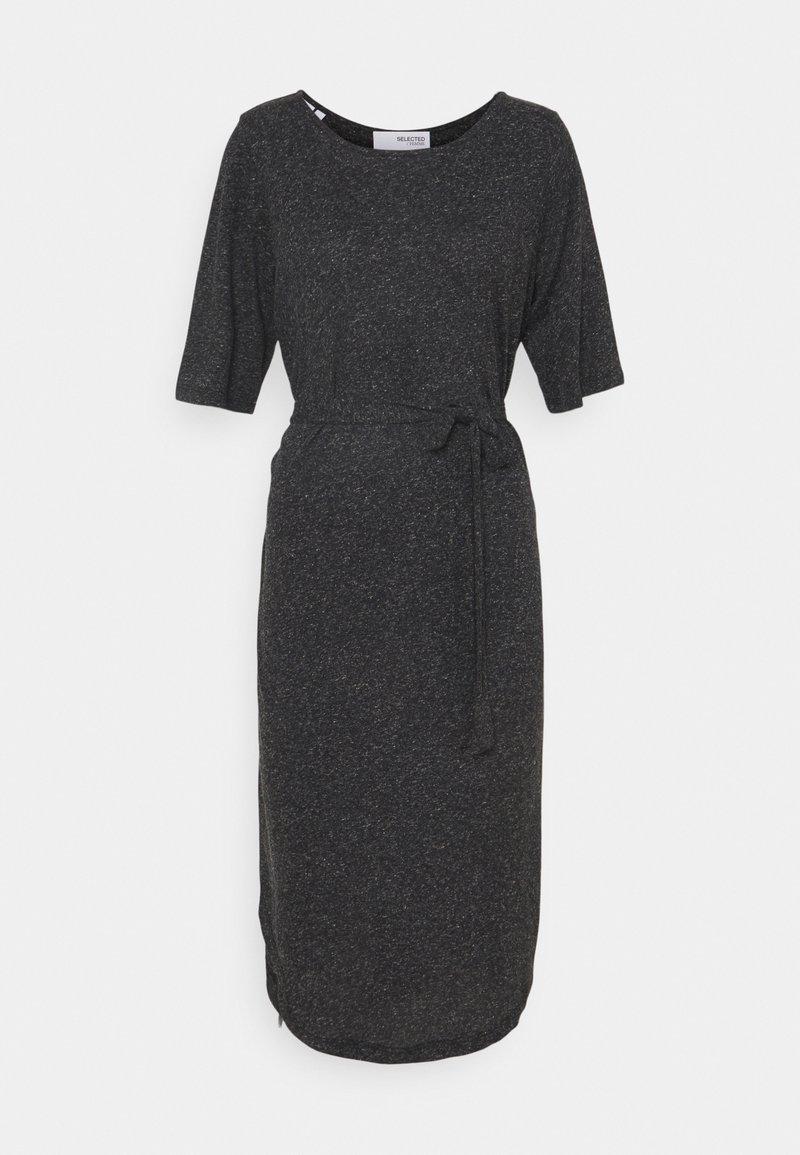 Selected Femme Petite - SLFIVY BEACH DRESS SOLID - Žerzejové šaty - black