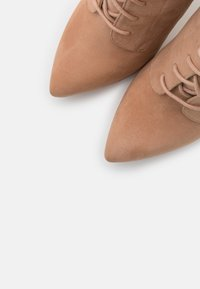 Even&Odd - LEATHER - High heeled ankle boots - sand - 5