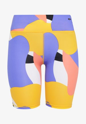 Swimming shorts - yellow aop w/red