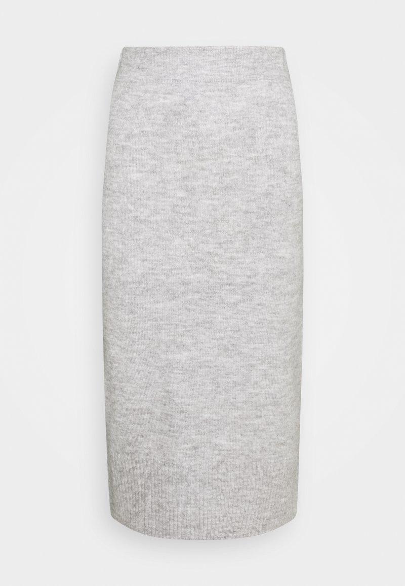 ONLY - ONLCILLE SKIRT  - Blyantskjørt - light grey melange