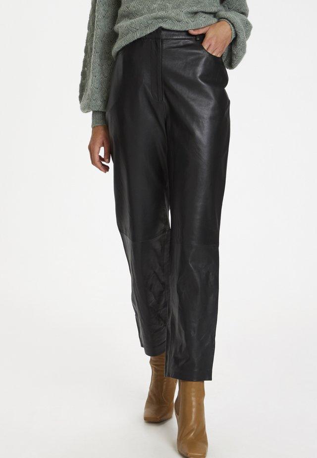 SLPATRICIA - Pantalón de cuero - black