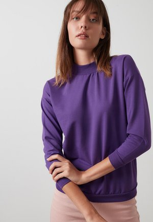 HIGH COLLAR BASIC SWEATSHIRT - Sweatshirt - purple
