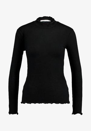 NELLI - Top sdlouhým rukávem - black