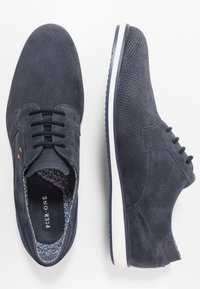Pier One - LEATHER - Chaussures à lacets - dark blue - 1