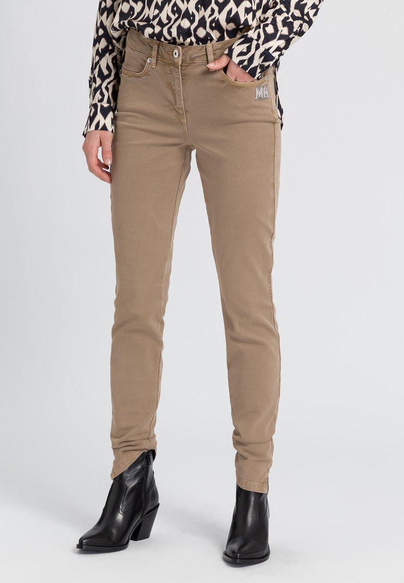 Marc Aurel - Slim fit jeans - taupe varied