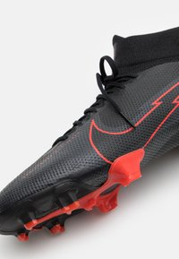 Nike Performance - MERCURIAL  7 PRO FG - Moulded stud football boots - black/dark smoke grey - 5