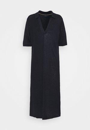 RIBBED RUGGER DRESS - Strickkleid - evening blue