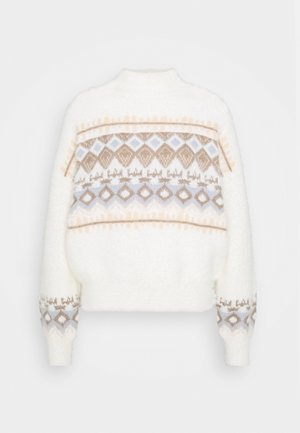 PCREANA HIGH NECK - Jumper - cloud dancer