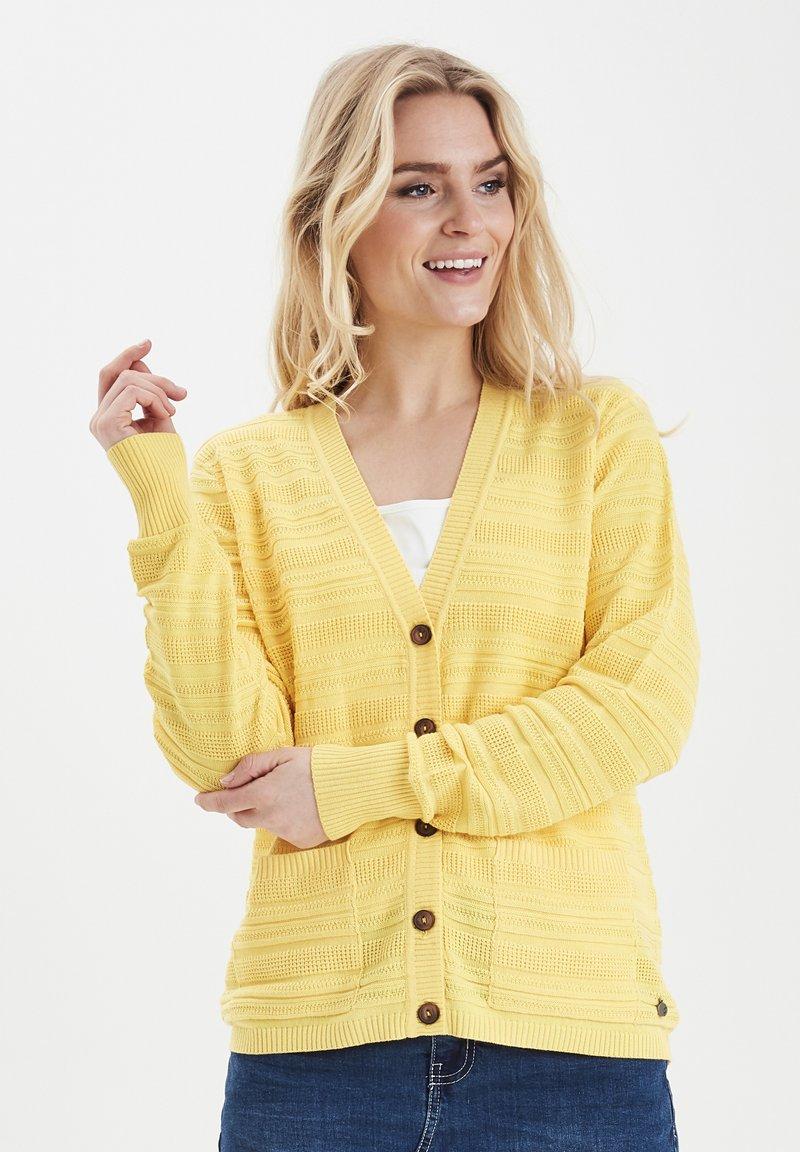 Fransa - FRITLINE - Cardigan - yellow