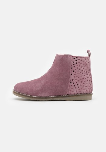 LEATHER - Classic ankle boots - mauve