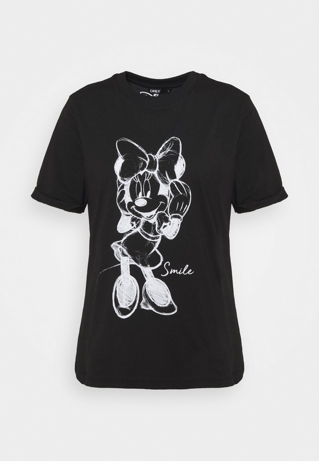 ONLMICKEY VINTAGE FACE - T-shirt imprimé - black/white