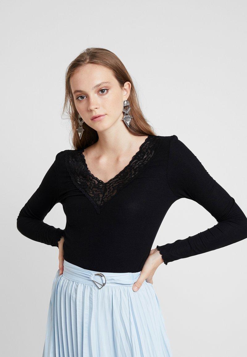 Pieces - PCSIRI - T-shirt à manches longues - black