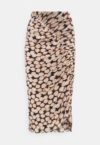 Diane von Furstenberg - CHRISTY SKIRT - Pencil skirt - leaf twig medium black - 5