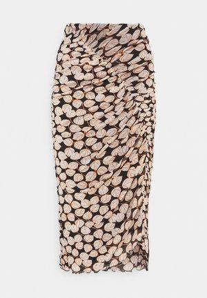 CHRISTY SKIRT - Pencil skirt - leaf twig medium black