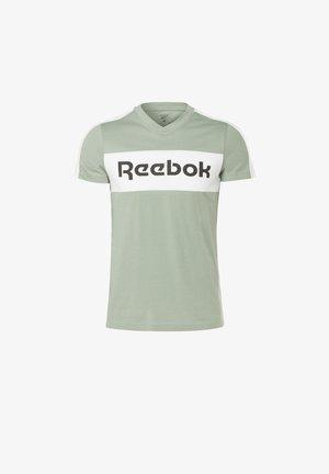 TRAINING ESSENTIALS LINEAR LOGO GRAPHIC T-SHIRT - T-shirt imprimé - green