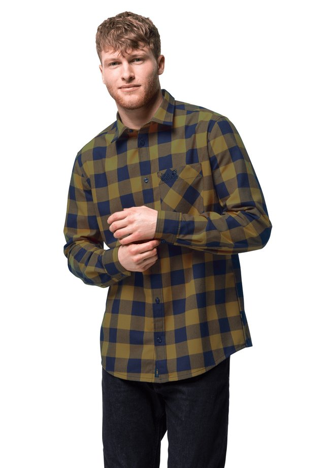 Shirt - golden amber checks