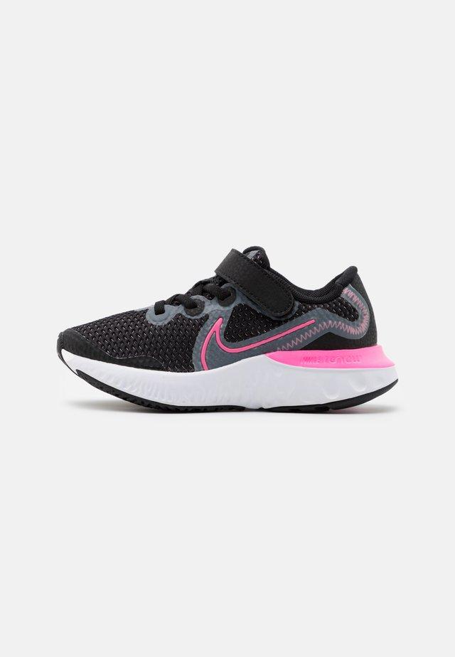 RENEW RUN UNISEX - Hardloopschoenen neutraal - black/pink glow/light smoke grey/white