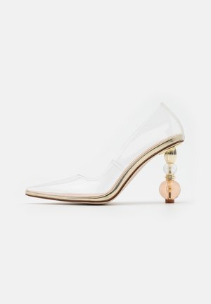 SIRAH - Zapatos altos - clear/gold