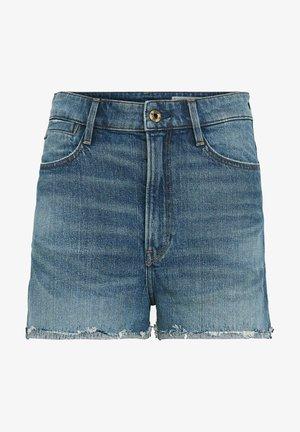TEDIE RIPPED EDGE ULTRA HIGH - Denim shorts - faded riverblue
