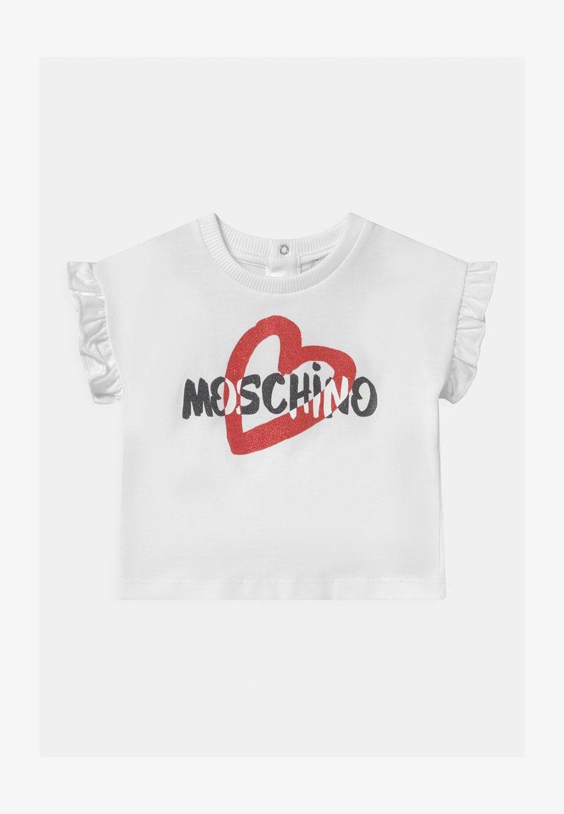 MOSCHINO - Printtipaita - optic white