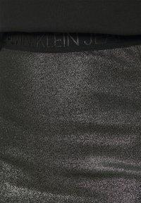 Calvin Klein Jeans - COATED MILANO SKIRT - Pencil skirt - black - 4
