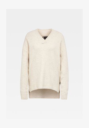 LAVIOX V LOOSE LONG SLEEVE - Jumper - whitebait