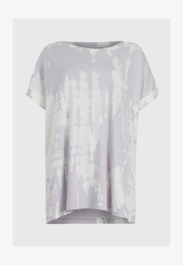 TIE DIE IMOGEN - T-shirt z nadrukiem - purple