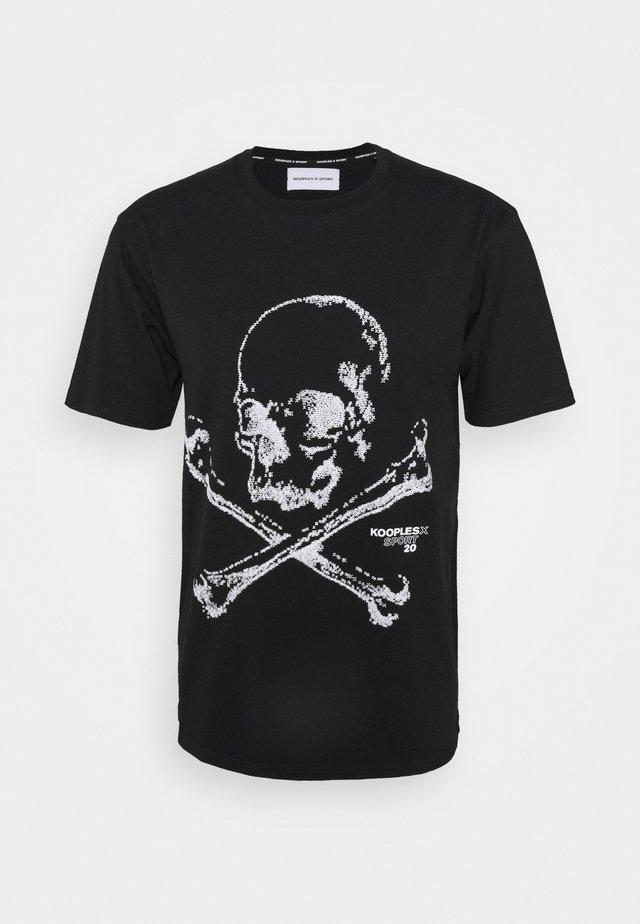 T-shirt con stampa - black
