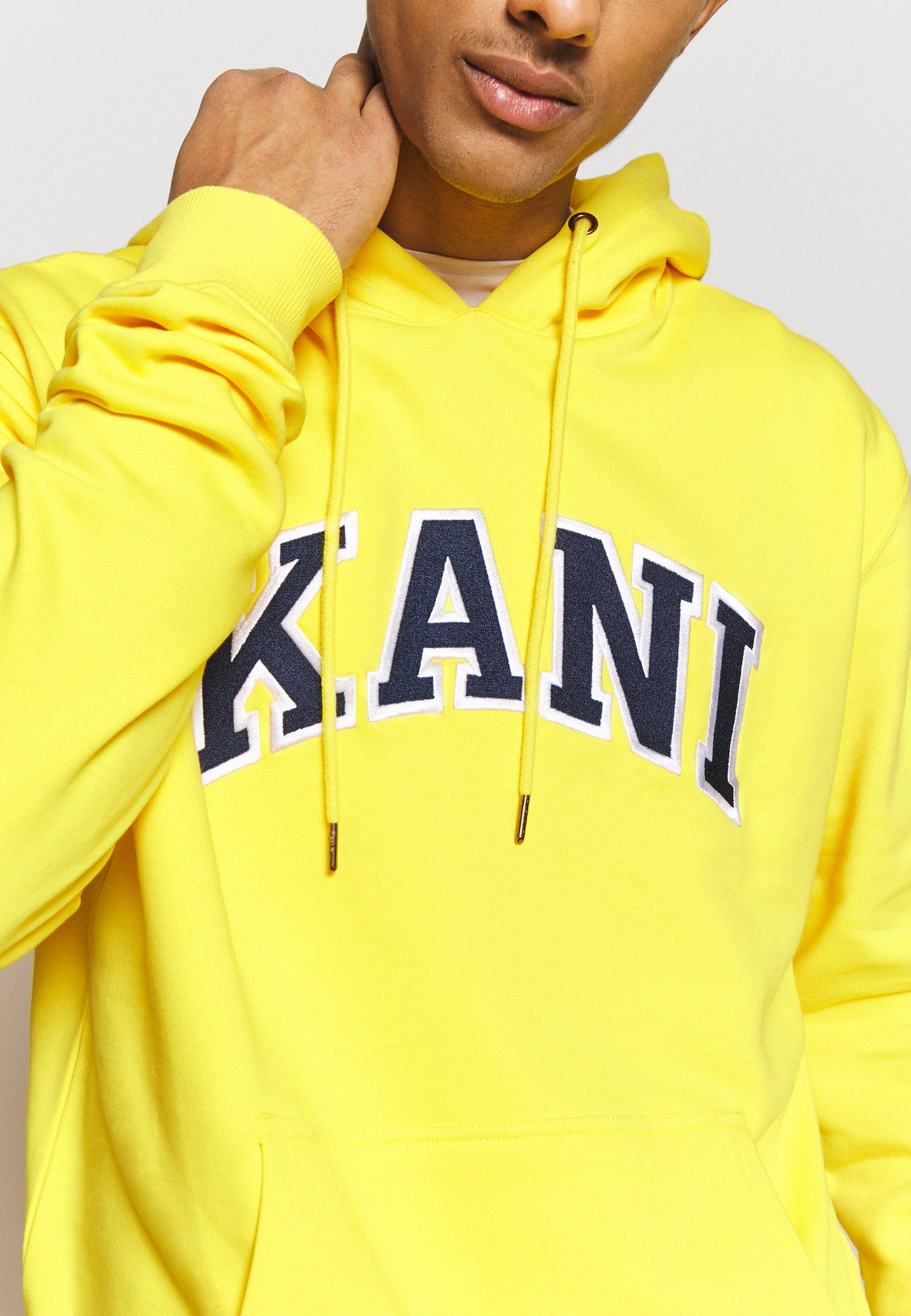 100% Aito Miesten vaatteet Sarja dfKJIUp97454sfGHYHD Karl Kani COLLEGE HOODIE Huppari yellow/navy/white