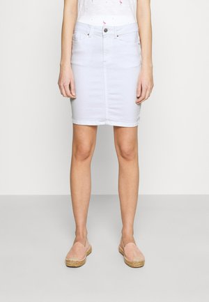 PCLILI SKIRT  - Jeansskjørt - bright white