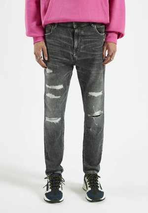 Straight leg jeans - mottled grey