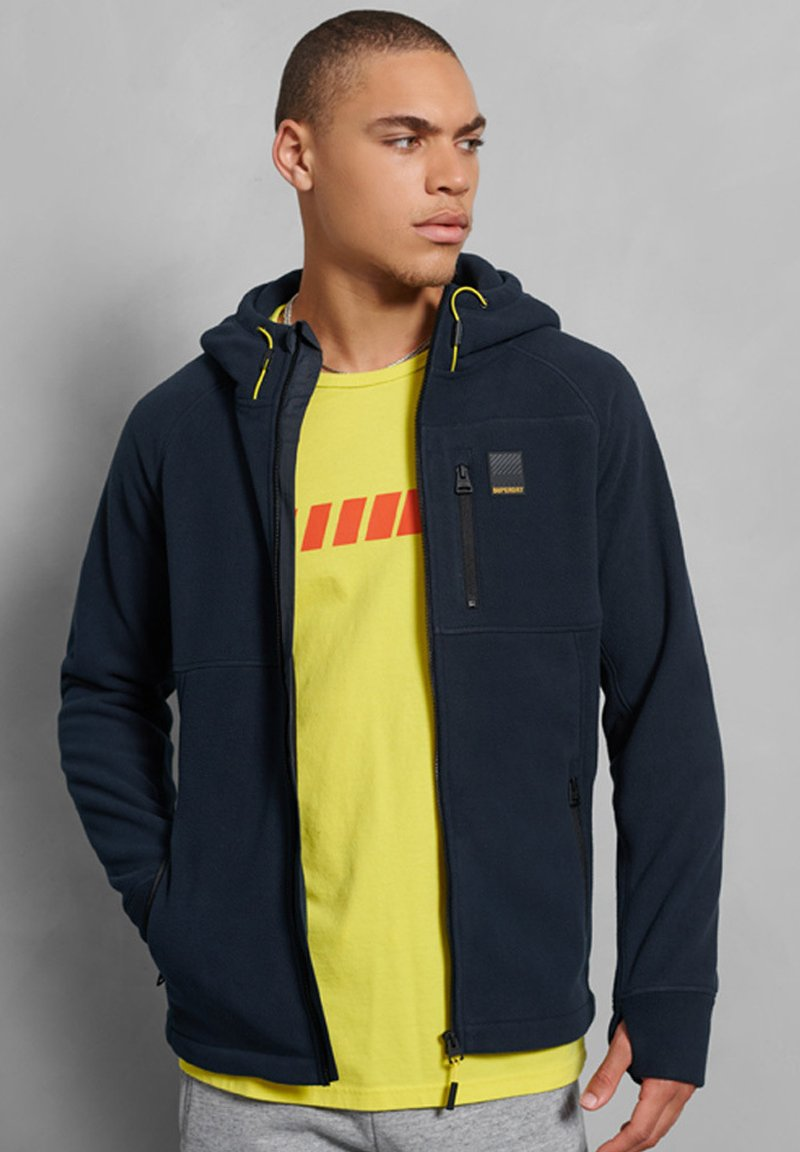 Superdry - POLAR FLEECE - Zip-up hoodie - nautical navy