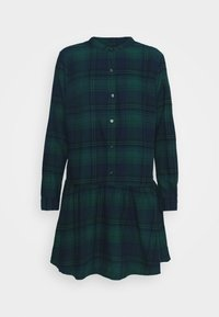 GAP - DRESS PLAID - Shirt dress - dark green - 6