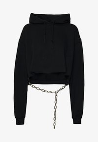 The Ragged Priest - BLACK HOODIE WITH CHAINBELT - Mikina s kapucí - black - 3