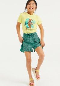 WE Fashion - Print T-shirt - bright yellow - 0