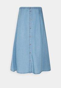 Vero Moda Tall - VMVIVIANA CALF SKIRT - A-line skirt - light blue denim - 0