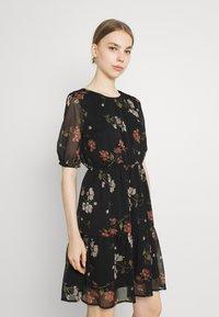 Vero Moda - VMKEMILLA  - Day dress - black/sallie - 0