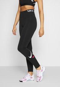 Nike Performance - ONE ICON CLASH - Tights - black/black/white - 0