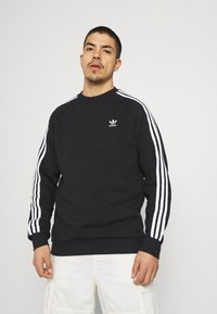 adidas Originals - 3 STRIPES CREW UNISEX - Sweater - black - 0