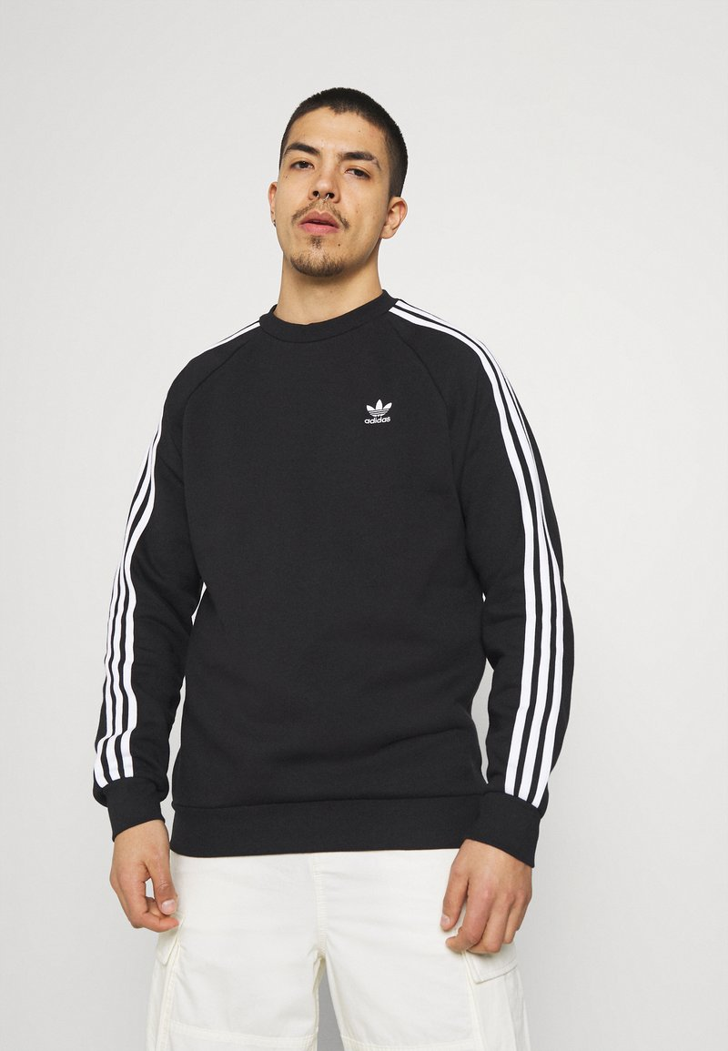 adidas Originals - 3 STRIPES CREW UNISEX - Sweatshirt - black