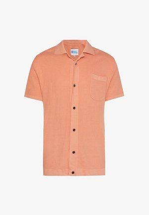 WE FASHION HEREN FIJNGEBREIDE POLO MET KNOOPSLUITING - Shirt - orange