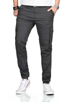 DESIGNER  - Cargo trousers - anthrazit