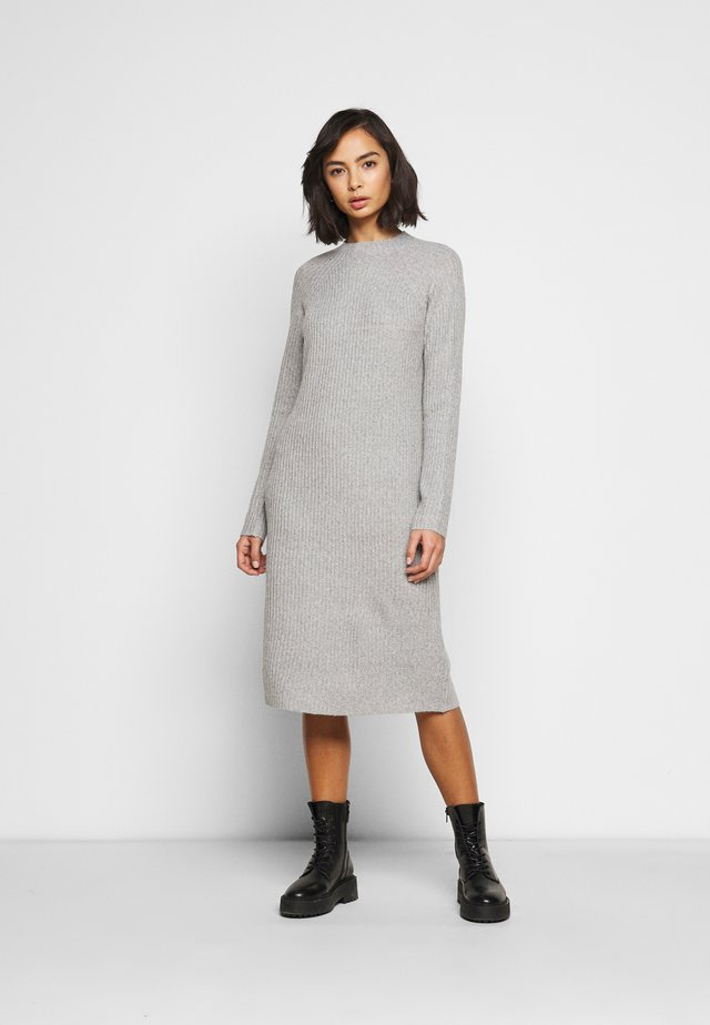 PCDISA MOCK NECK KNIT DRESS  - Neulemekko - light grey melange