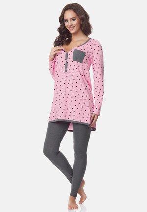 Pyjama set - rosa-punkten-grau