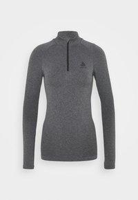 TURTLE NECK HALF ZIP PERFORMA - Long sleeved top - grey melange
