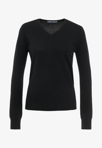 pure cashmere - V NECK - Jumper - black - 3