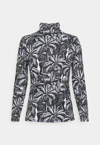 NU-IN - TONI DREHER X nu-in EDEN HIGH NECK LONG SLEEVE TOP - Long sleeved top - black/white - 1