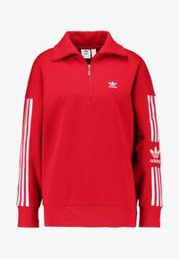 adidas Originals - ADICOLOR HALF-ZIP PULLOVER - Sweatshirt - scarlet - 3